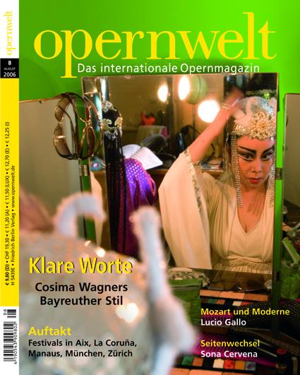 Opernwelt August (8/2006)