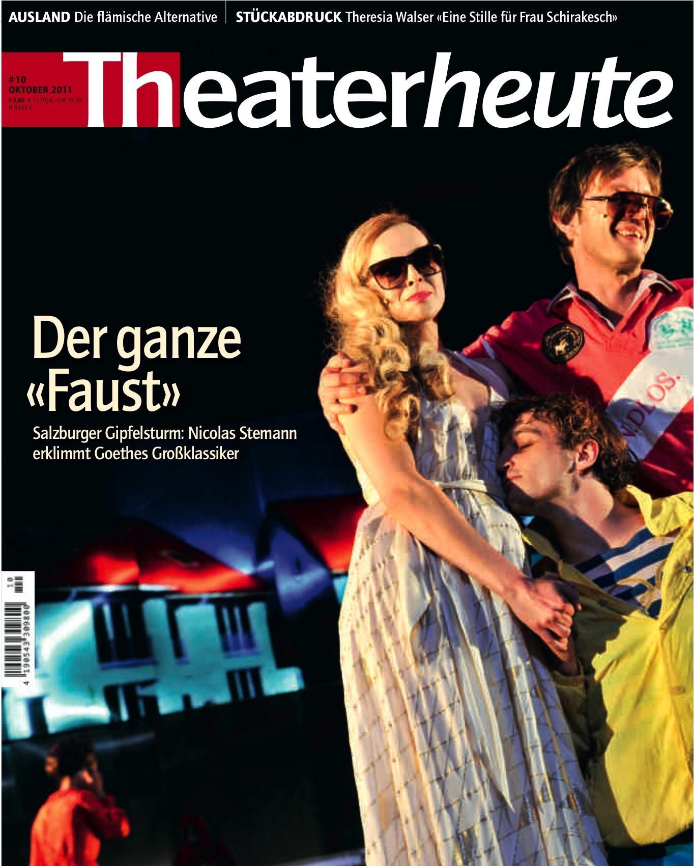 Theater heute Oktober (10/2011)