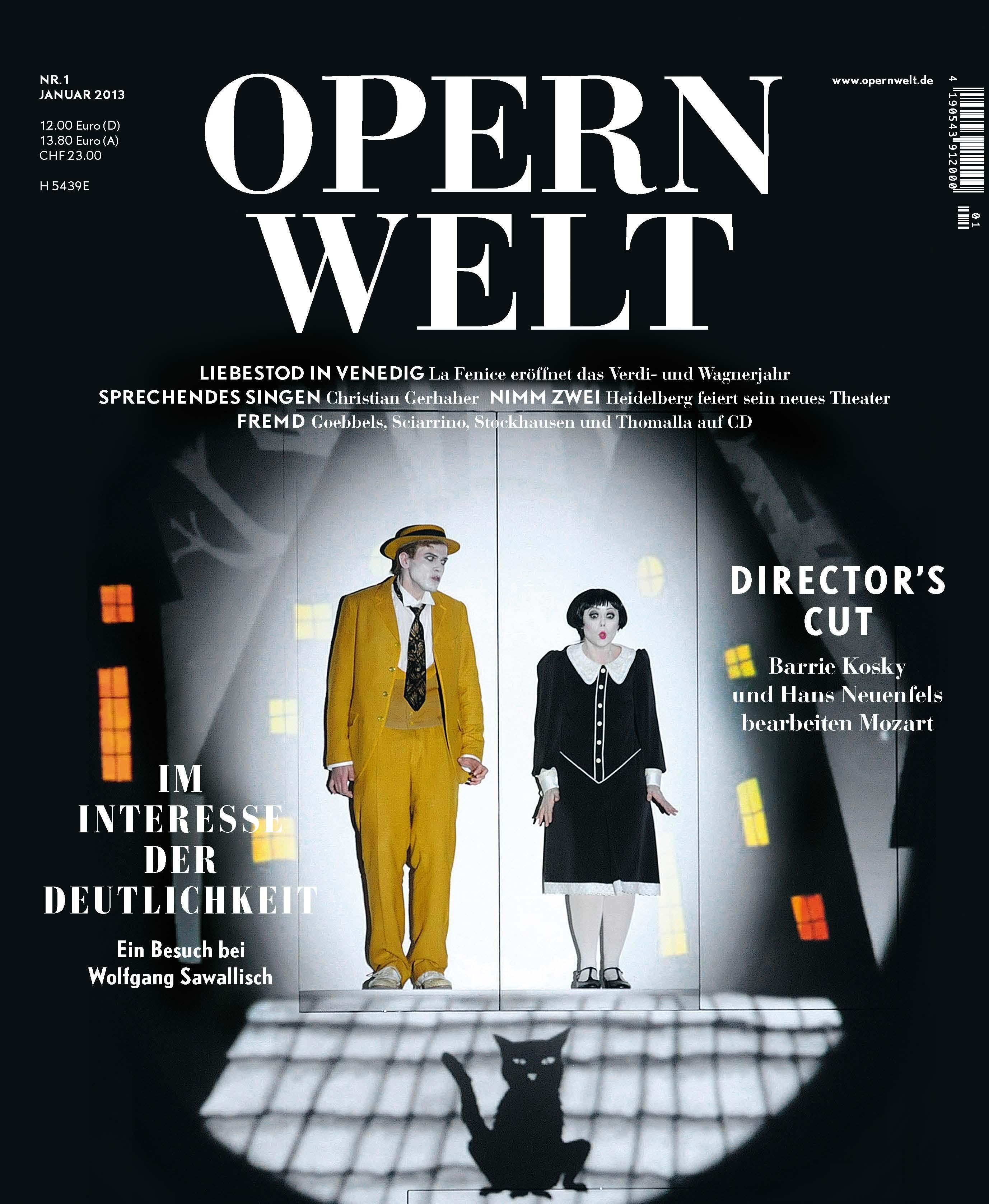 Opernwelt Januar (1/2013)