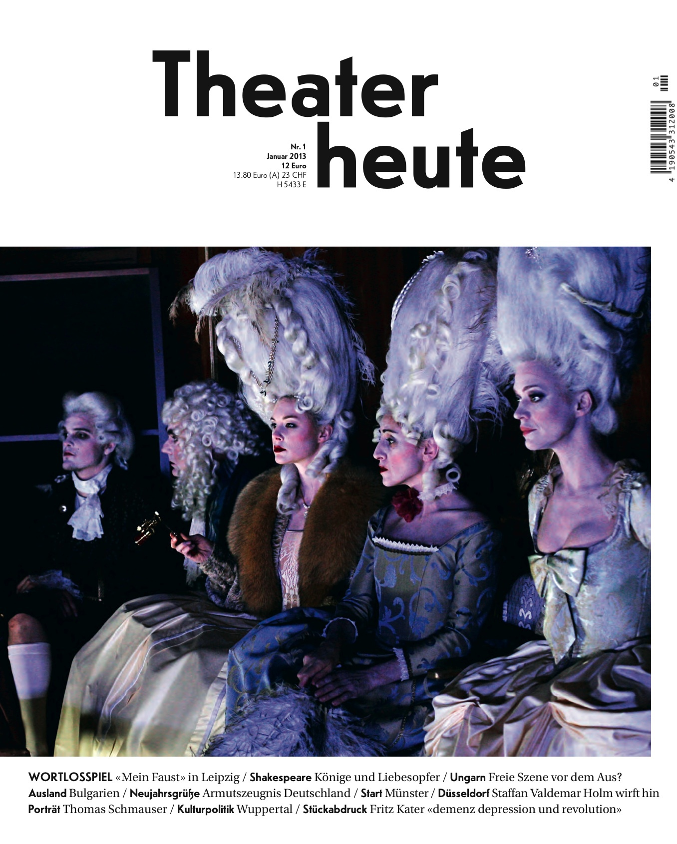Theater heute Januar (1/2013)