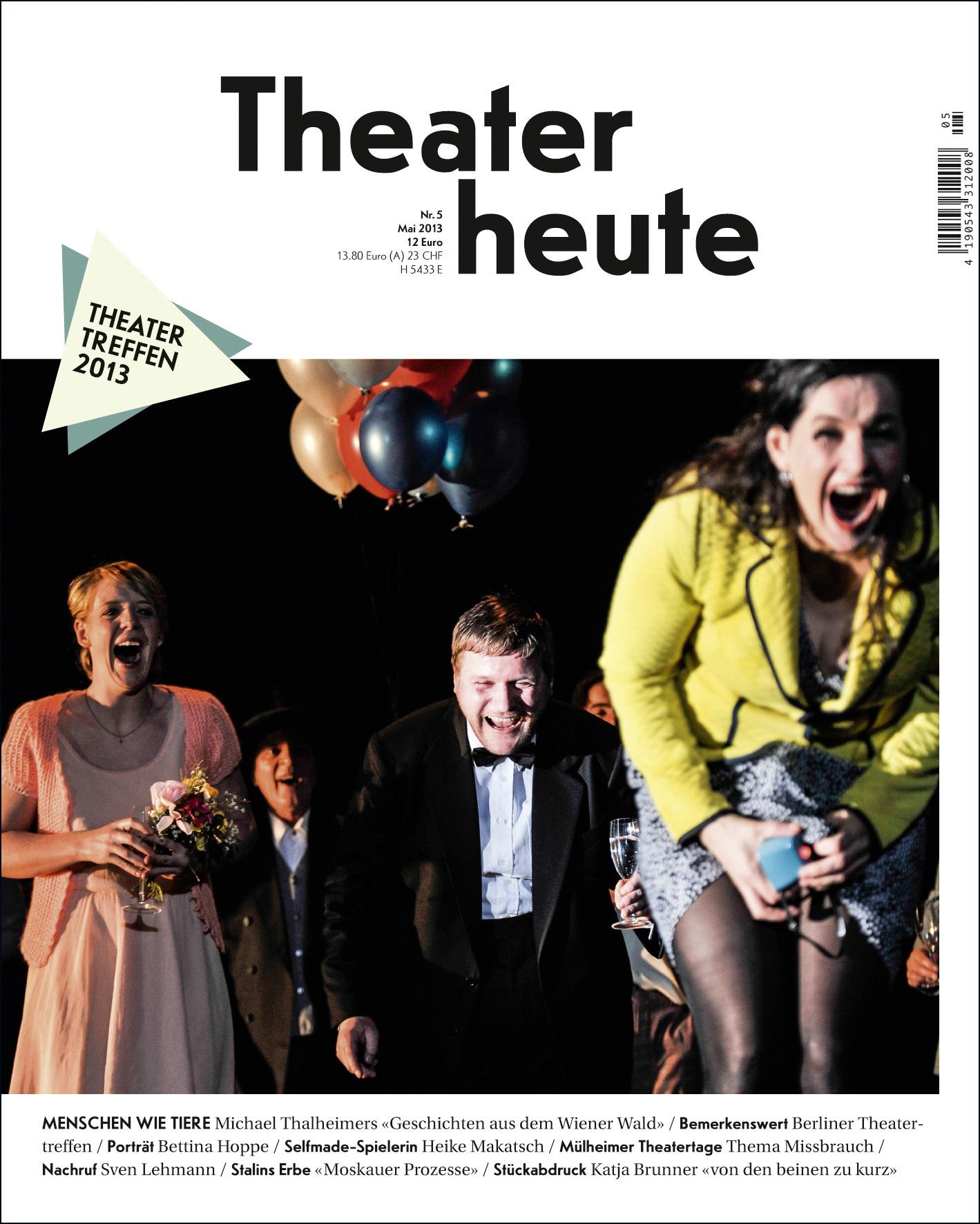 Theater heute Mai (5/2013)