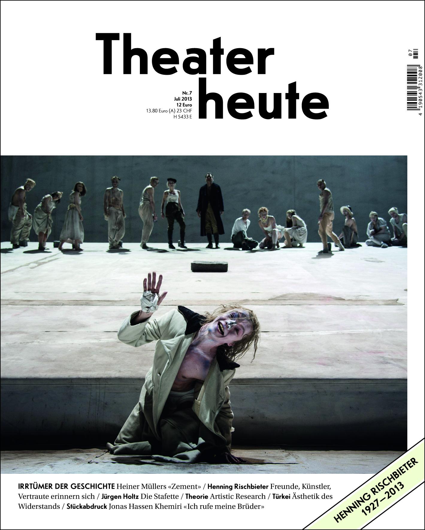 Theater heute Juli (7/2013)