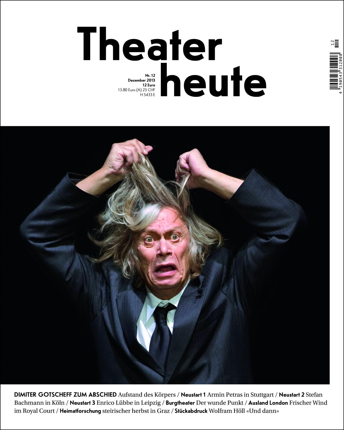 Theater heute Dezember (12/2013)