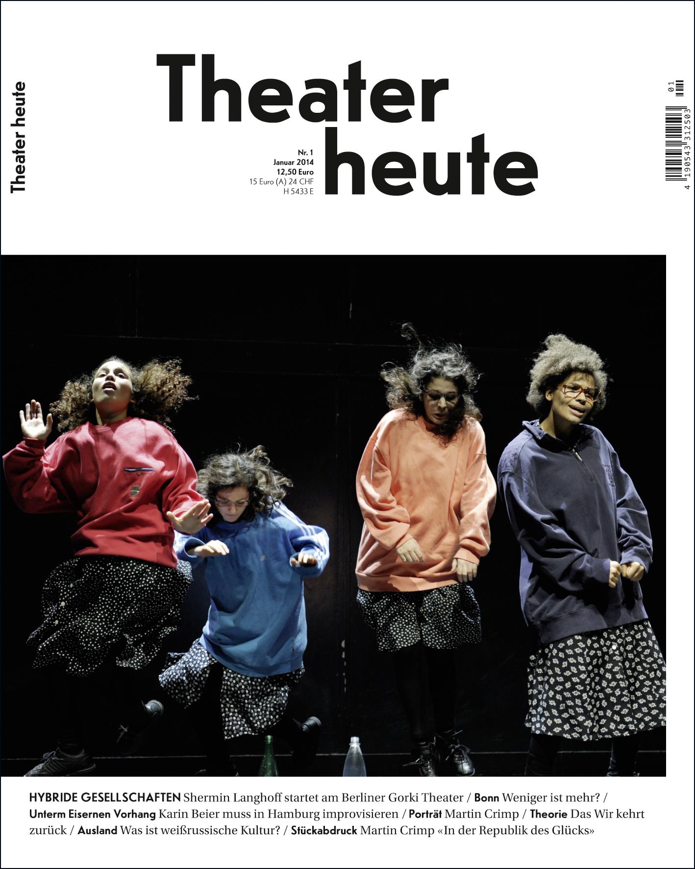 Theater heute Januar (1/2014)