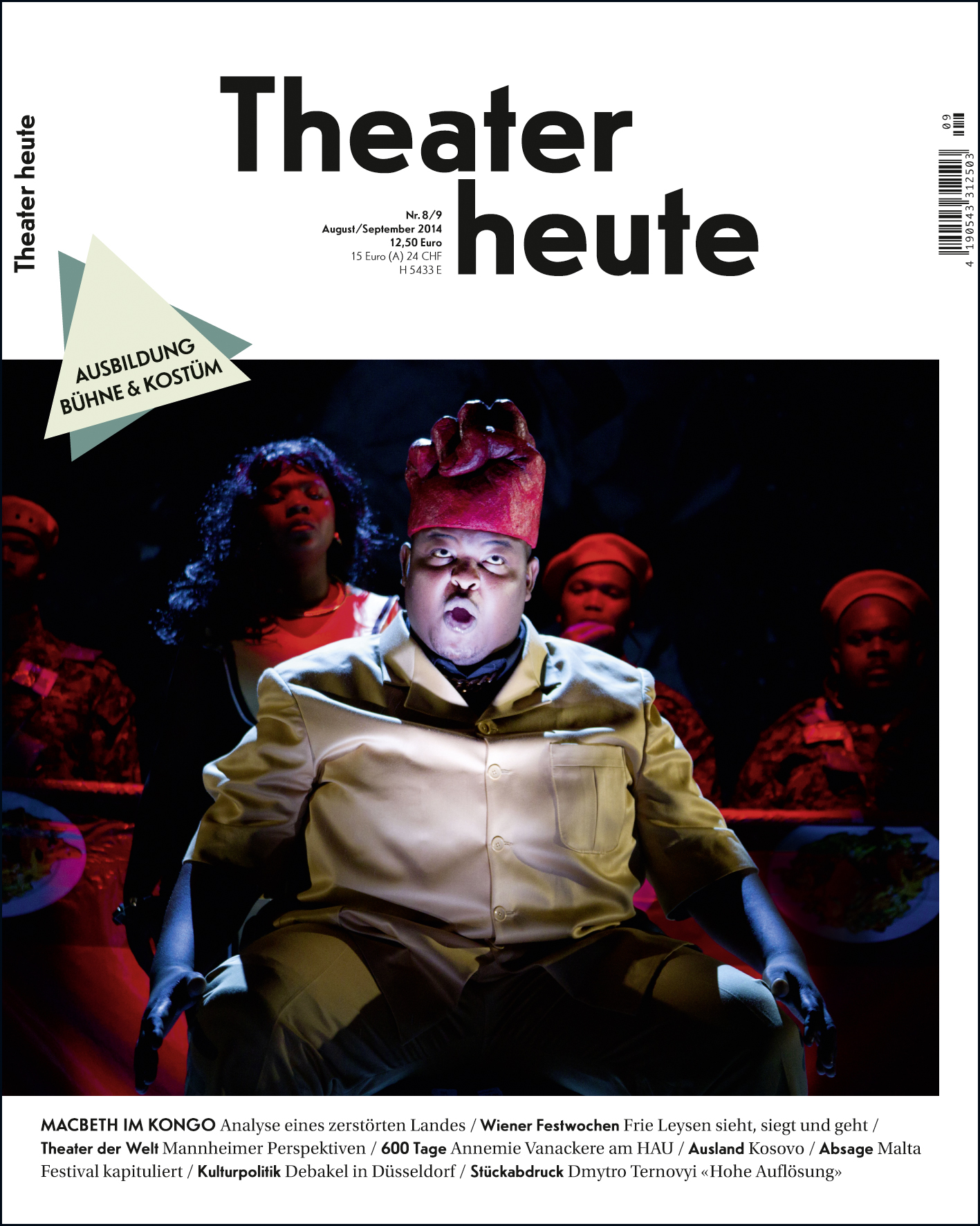Theater heute August-September (8/9/2014)