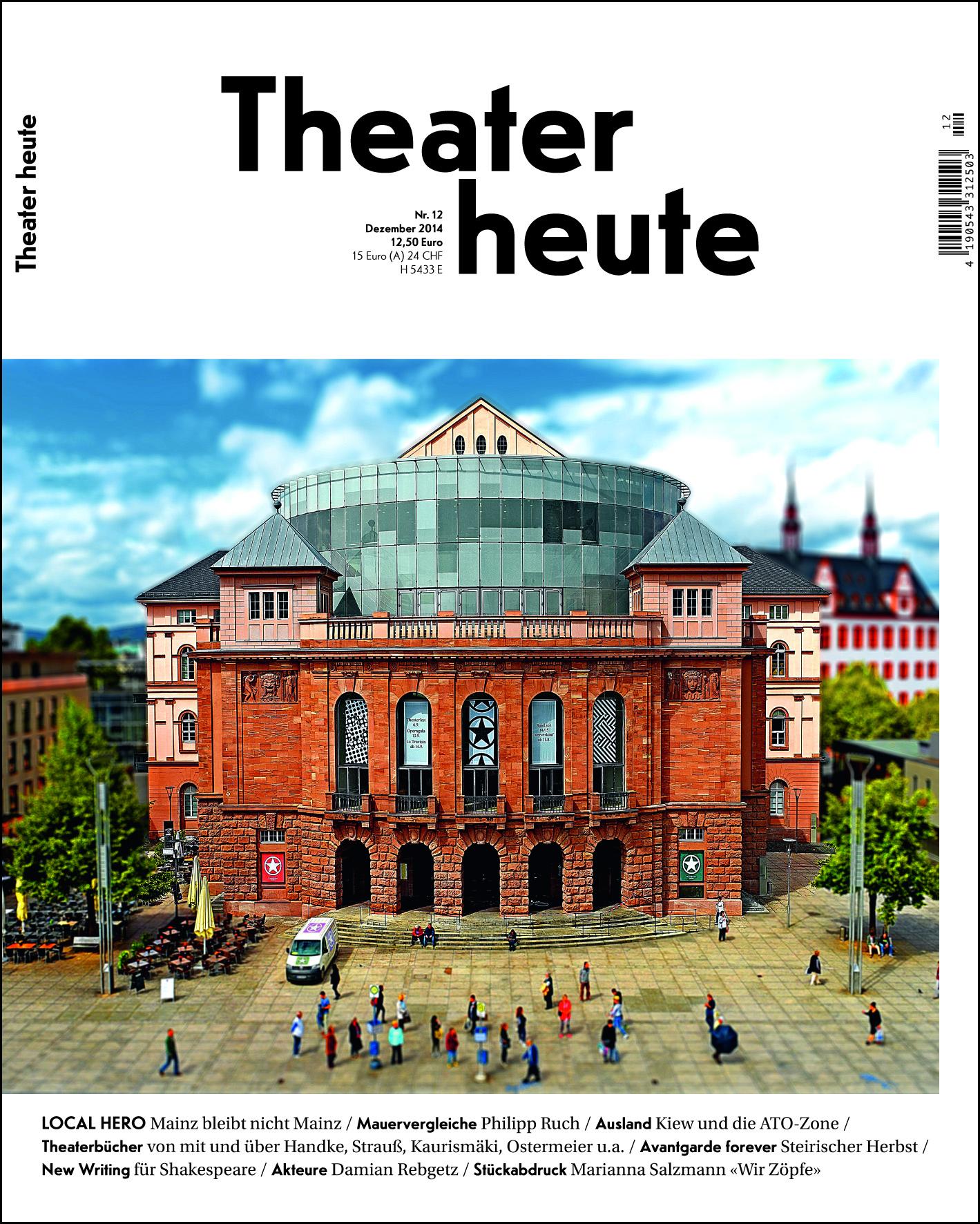 Theater heute Dezember (12/2014)