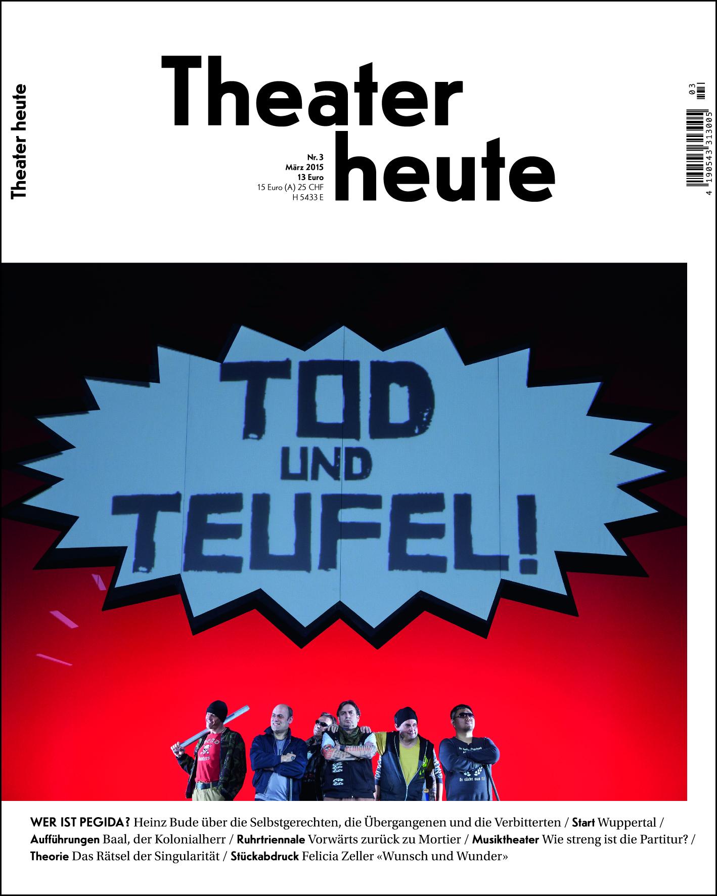Theater heute März (3/2015)