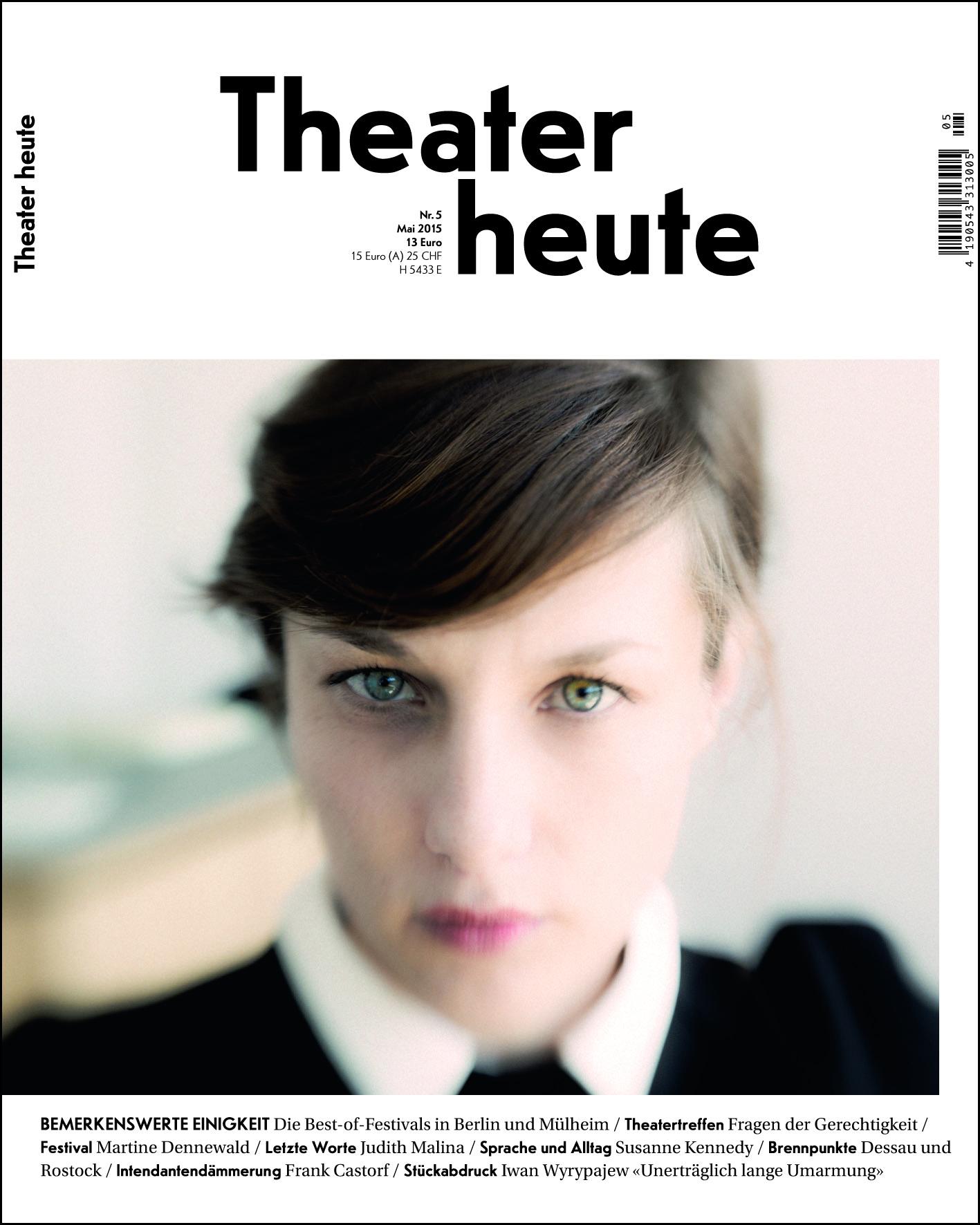 Theater heute Mai (5/2015)
