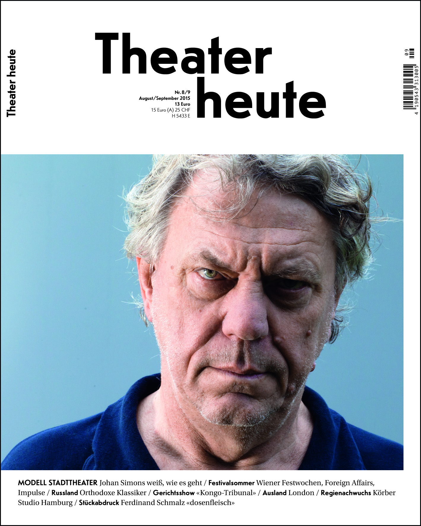 Theater heute August/September (8/9/2015)