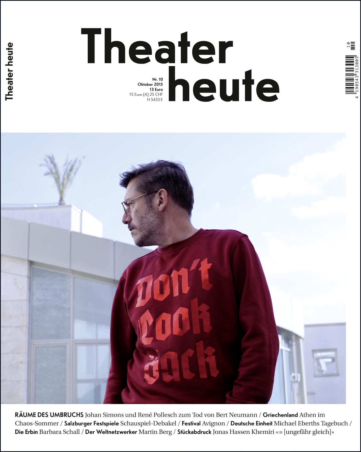 Theater heute Oktober (10/2015)
