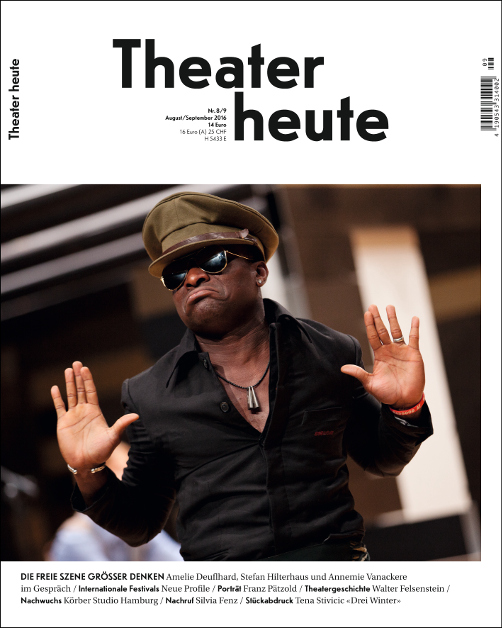 Theater heute August/September (8/9/2016)