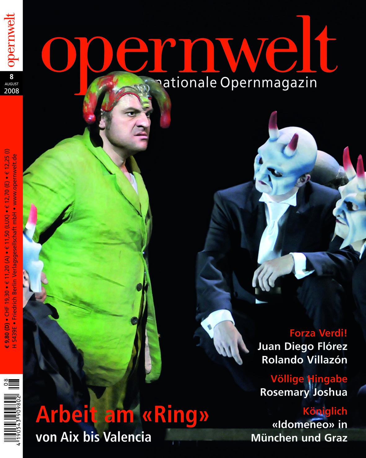 Opernwelt August (8/2008)