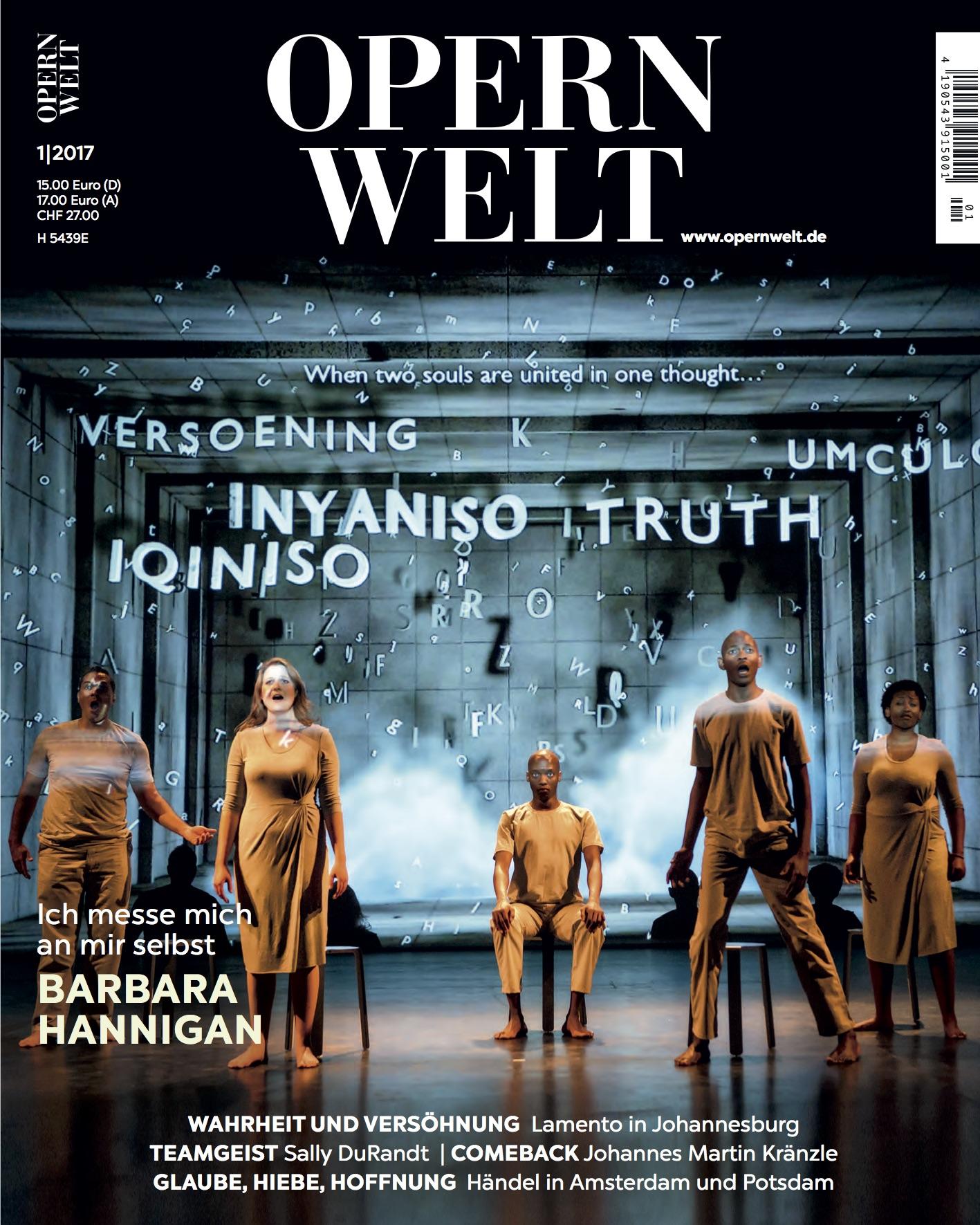 Opernwelt Januar (1/2017)