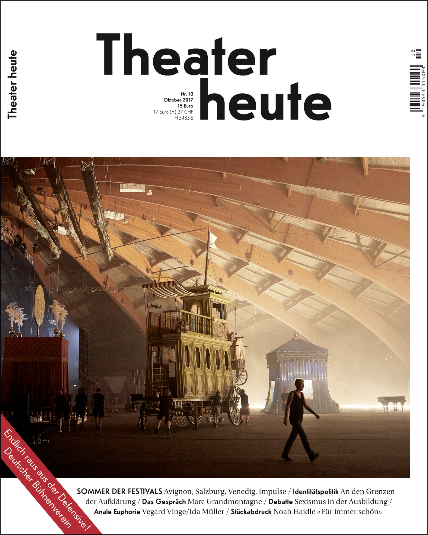 Theater heute Oktober (10/2017)