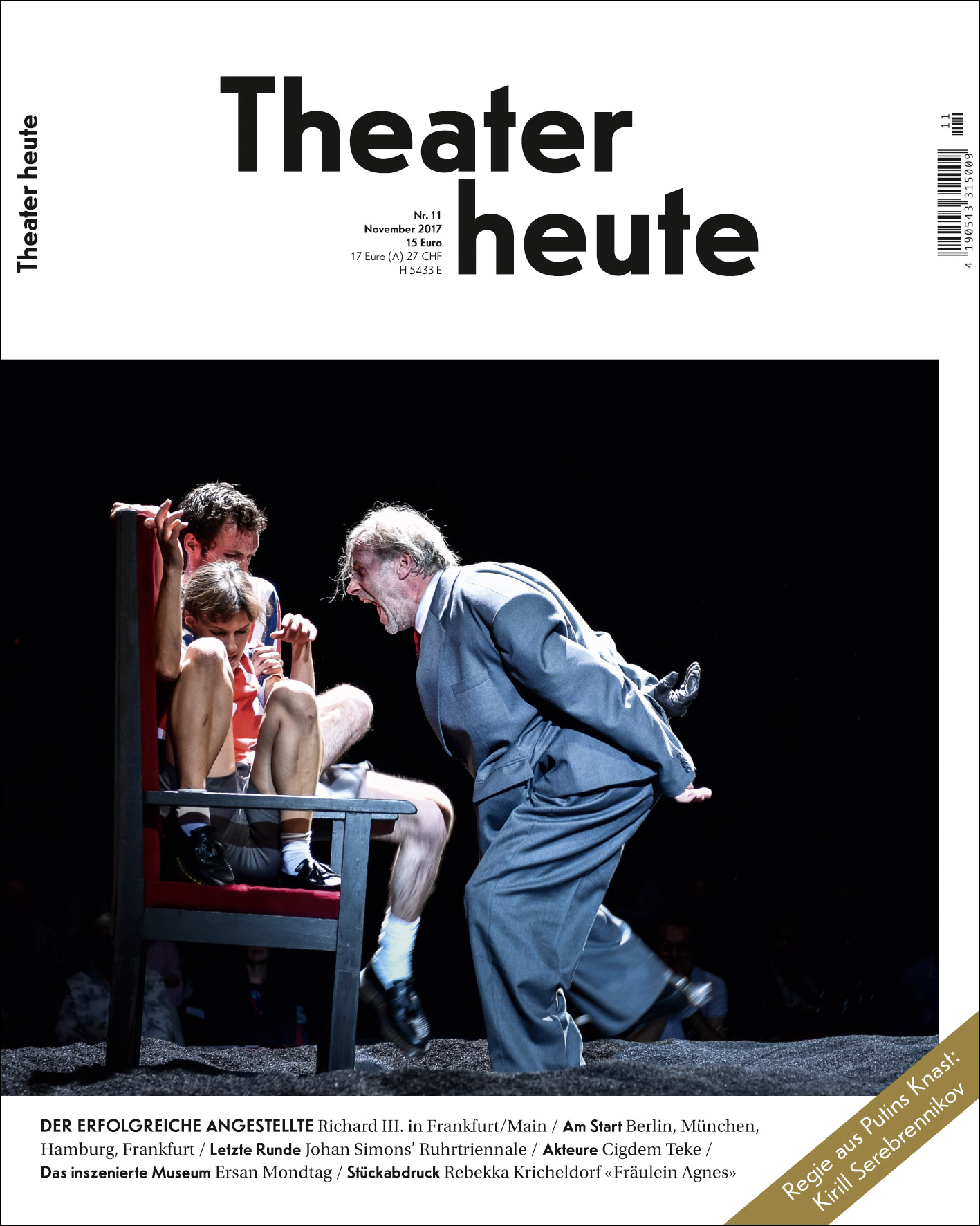Theater heute November (11/2017)