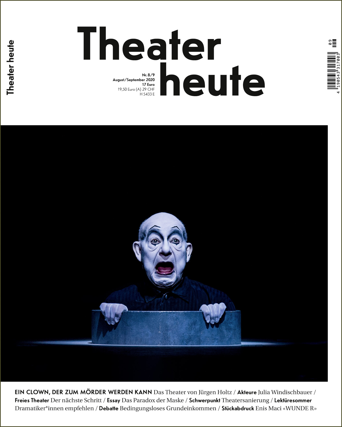 Theater heute August/September (8/9/2020)