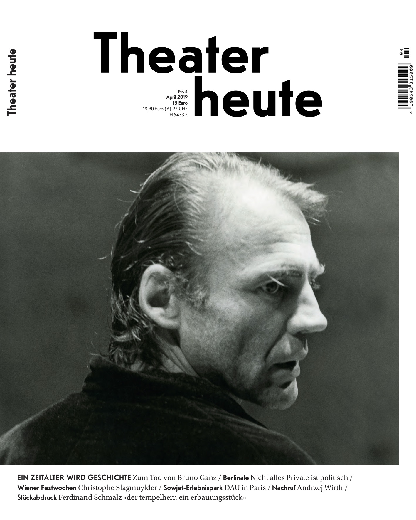 Theater heute April (4/2019)