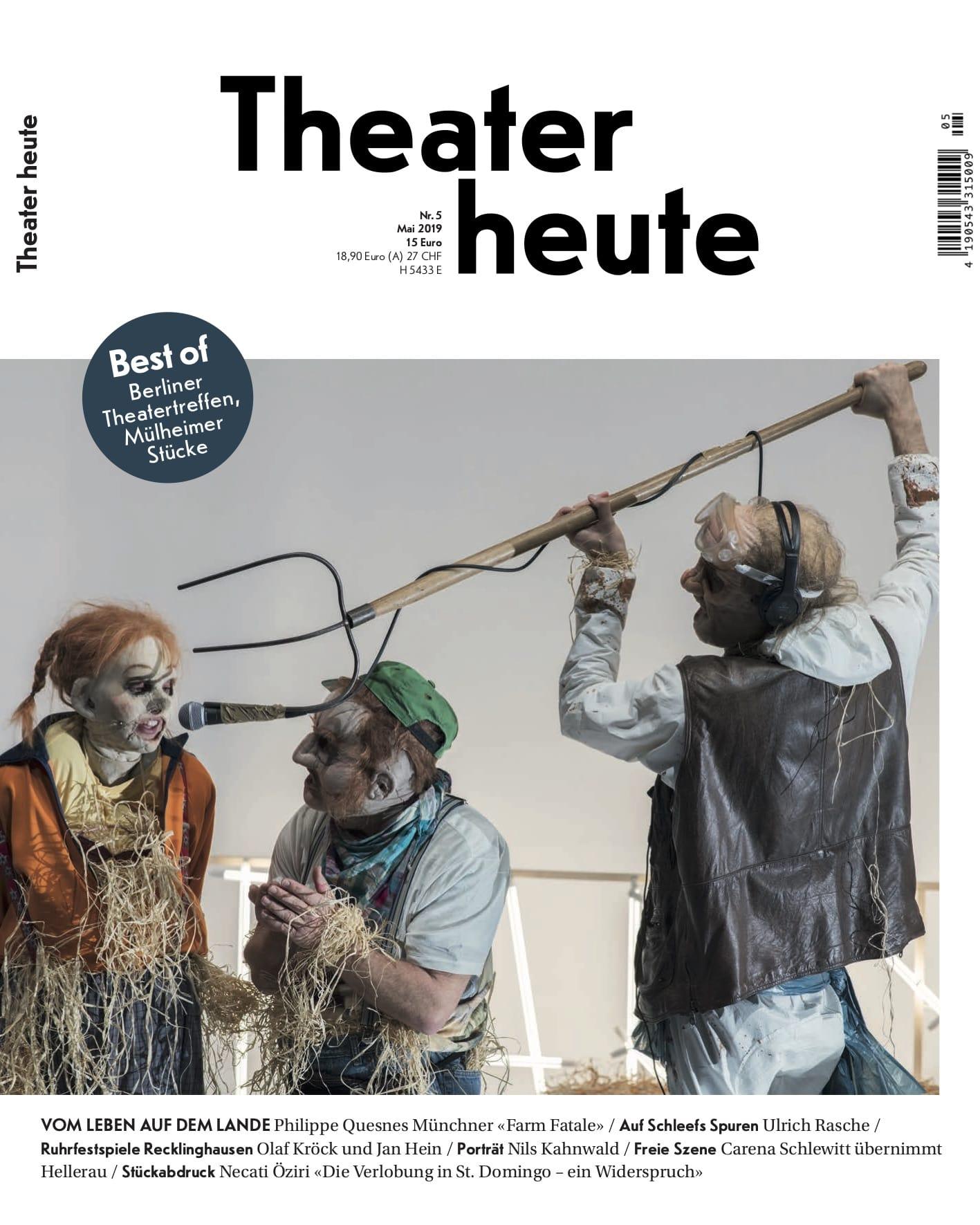Theater heute Mai (5/2019)