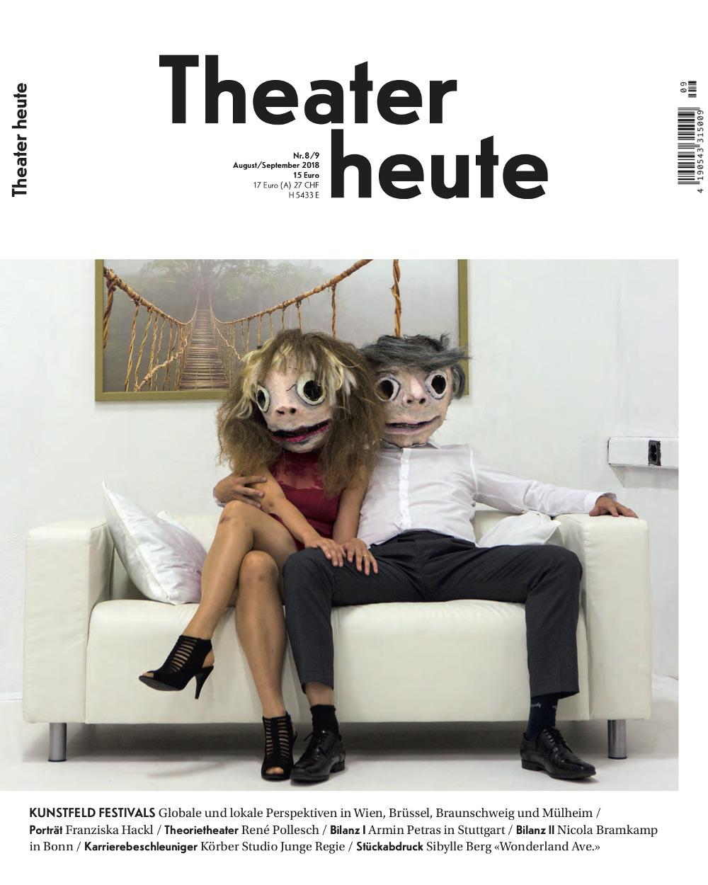 Theater heute August/September (8/9/2018)