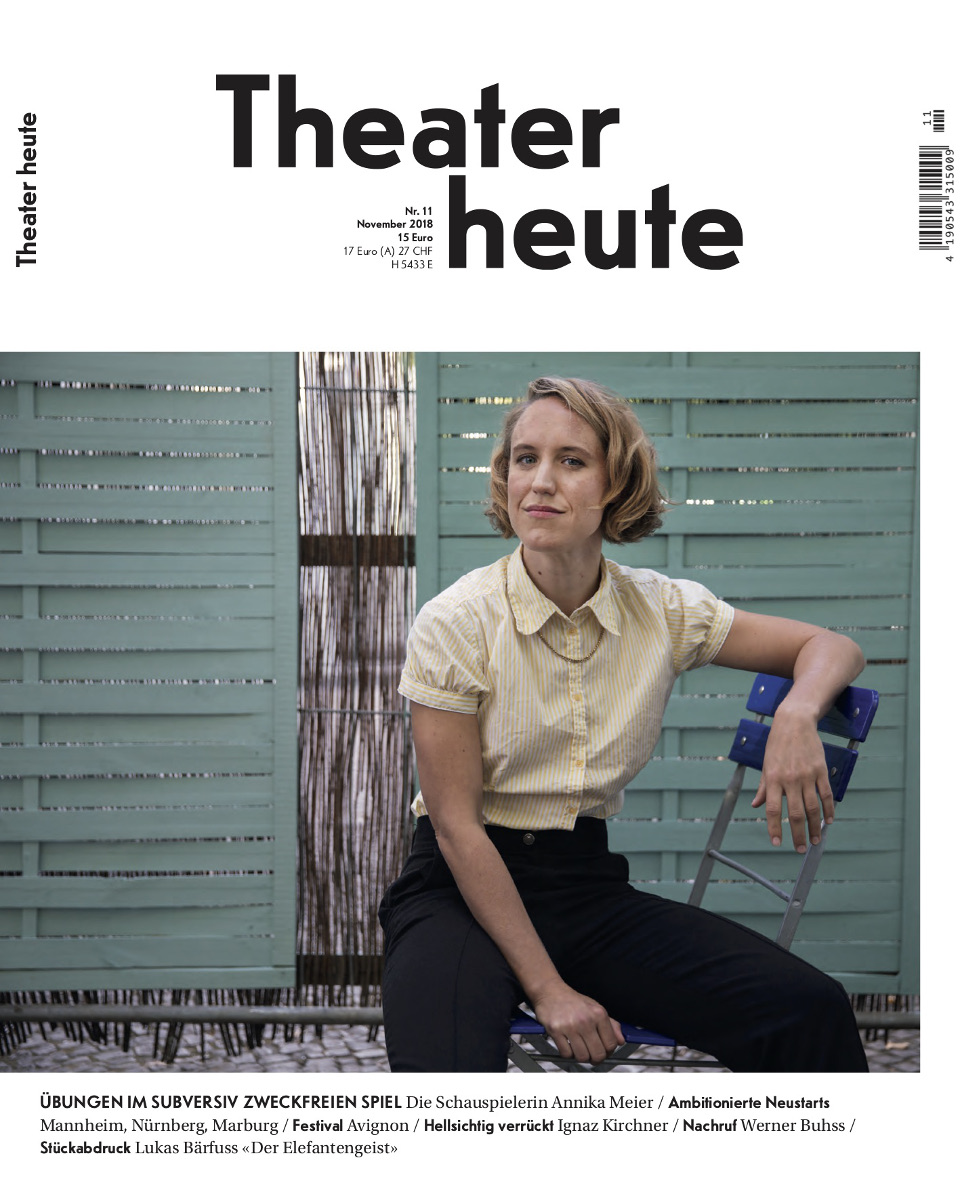 Theater heute November (11/2018)